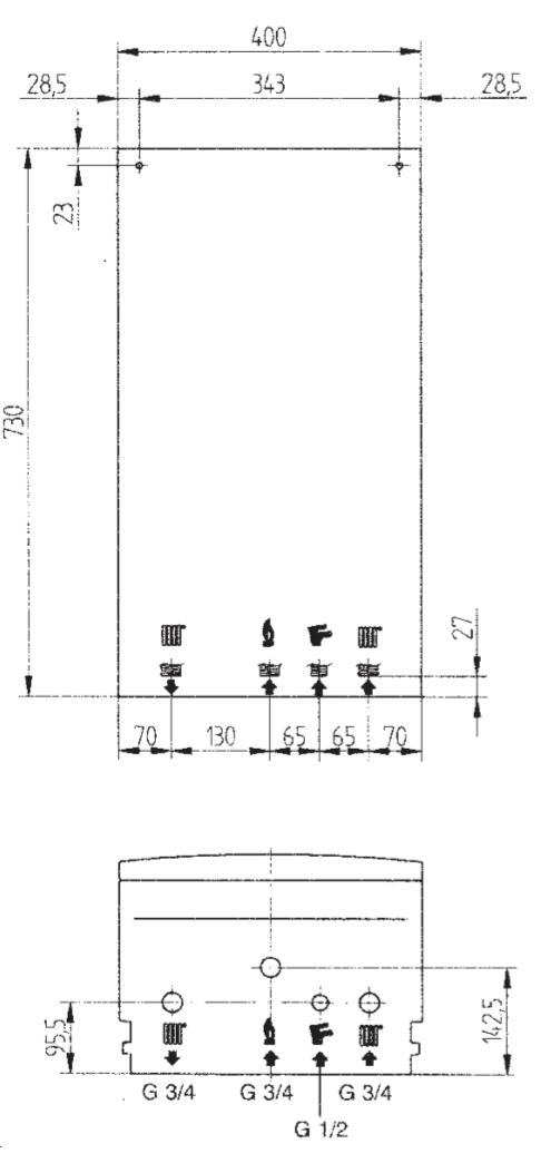 купить Котёл газовый одноконтурный 14 кВт BAXI ECO four 1.14 Fi - 1