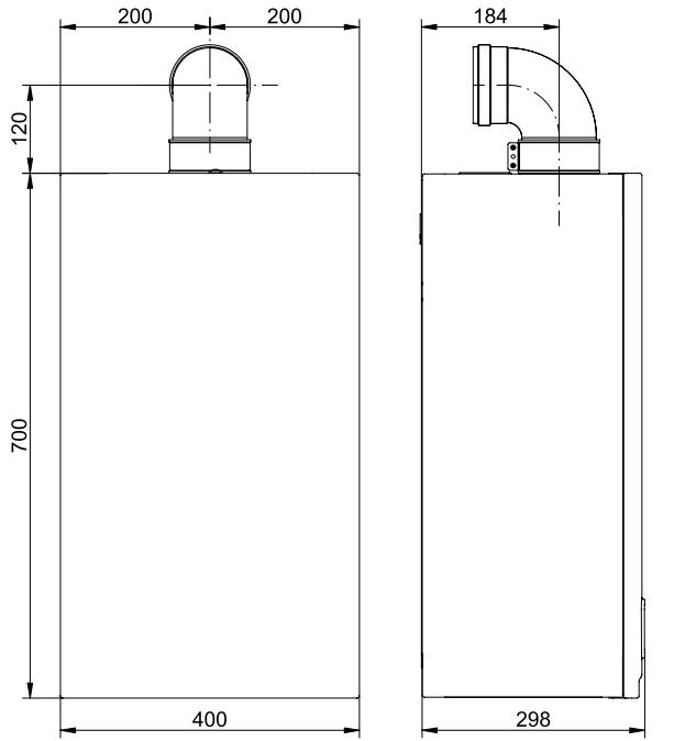 купить Котёл газовый двухконтурный 14 кВт BAXI Main 5 14 Fi - 2