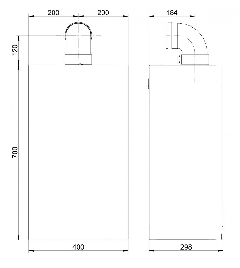 купить Котёл газовый двухконтурный 14 кВт BAXI ECO Compact 14 Fi - 2