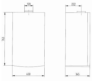 купить Котёл газовый двухконтурный 24 кВт BAXI Luna 3 24 i - 2