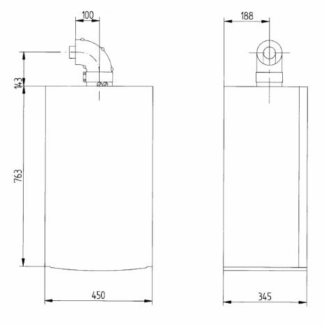 купить Котёл газовый одноконтурный 31 кВт BAXI Luna 3 1.31 Fi - 2
