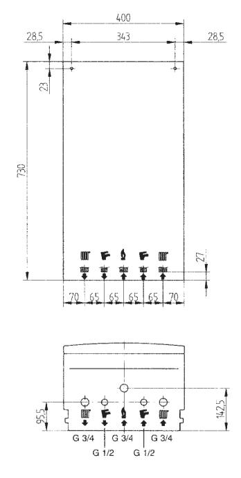 купить Котёл газовый двухконтурный 24 кВт BAXI ECO four 24 Fi - 1