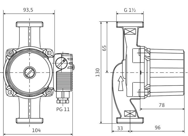купить Циркуляционный насос Wilo Star-RS 25/6 OEM - 3
